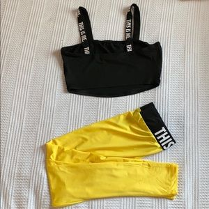 SHEIN two piece top and leggings set